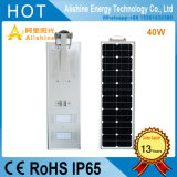 40W Integrated All-in-One Solar Street Light with LiFePO4 Lithium Battery