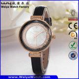 Classic Hot Sale Fashion Leather Strap Quartz Ladies Watch (Wy-101D)