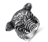 Titanium Steel Punk Pig Ring for Men Personality Popular for Men Jewelry