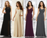 2017 Chiffon Evening Dress A-Line Beading Bridesmaid Prom Dresses Ld1547