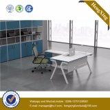 Classic L Shape Office Furniture White Melamine Office Desk (UL-NM033)