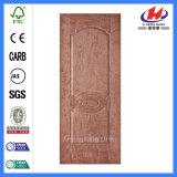 HDF Natural Teak Moulded Wood Veneer Door Skin (JHK-007)