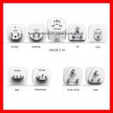Worldwide to American USA Plug Travel Adapter with 2.1AMP Dual USB