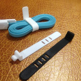 New Products Printed Logo Twist Lock Silicone Rubber Cable Ties