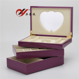 3 Layers Lacquered Wooden Jewelry Box