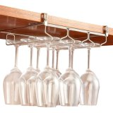 Under Cabinet Steamware Rack Holder Adjustable Stainless Steel Wine Glass Hanger Organizer Bar