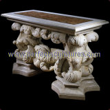 Stone Marble Table for Antique Garden Furniture (QTB050)