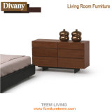 Rattan Living Room Wooden TV Cabinet Designs with Showcase