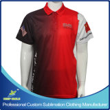 Custom Made Sublimated Motorcycle Staff Uniform Polo Shirts