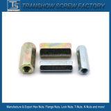 M8-M16 Galvanized Steel DIN6334 Hex Coupling Nut