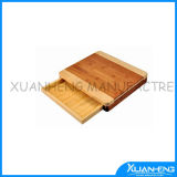 Bamboo Cutting Board with a Drawer