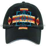Washed Joint Embroidery Sandwich Twill Sport Baseball Cap (TMB9048)