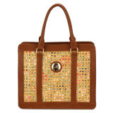 Fashion Weave Fabric Decoration Women Handbags (MBNO032071)