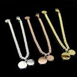 Fashion Jewelry Personalized Custom 18k Gold Women Round Bead Bracelet