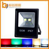 Ww/Pw/Cw RGB 100W IP67 Outdoor Garden AC85-265V LED Flood Light