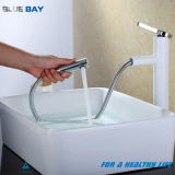 White Brass Swivel Vanity Sink Basin Mixer