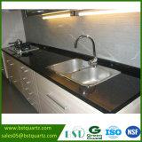 Black Galaxy Artificial Quartz Stone Kitchen Countertop