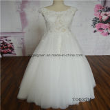 Illusion Sexy Cap Sleeve Lace Bridal Dress