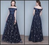Blue Stars Prom Party Gowns Sequins Cocktail Evening Dresses Z1009
