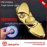 New Gift Electronic USB Charged Lighter Hand Spinner Lighter