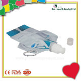 Doctor Uniform Style Drinking Plastic Pouch Bottle With Metal Hook