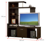 Modern MFC Laminated Wooden Cabinet TV Stands (HX-DR261)