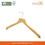 Semi Contoured Body Wood Clothes Hanger