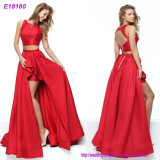 New Lace Elegant Red Thin Banquet Evening Dress for Women
