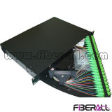 Rotate Type Fiber Optic Patch Panel with 48 Sc Pigtail