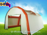 Car wash inflatable tent structure for outdoor use