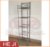 Silver Color Wire Shelf with Five Tiers for Bathroom Use