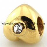Real 18k Gold Plating Heart Bead
