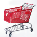 Plastic Shopping Trolley with 180L