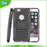 Black Combo Holster Case for iPhone 6 4.7 Inch with Kickstand