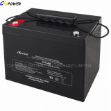 Manufacturer AGM Deep Cycle Battery 12V80ah with Long Lifespan