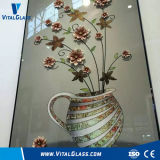 UV Printing Art/Hot Painted/Tempered/Reflective/Laminated/Tinted Float Glass with Ce Certificate