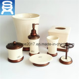 Wholesale Hotel 7PCS Soap Dispenser, Soap Dish, Tbh Ceramic Bathroom Set