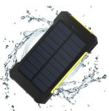 CE FCC Approved Waterproof Solar Power Bank with 10000mAh