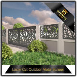 Decorative Aluminum Perforated Fence Panel Laser Cut Outdoor Screen