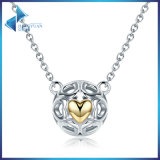 925 Sterling Silver My One True Love Pendant Women Openwork Heart Love Jewelry Necklaces