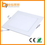 12W Flat Ceiling Decorative Lighting 172*172mm Square LED Panel Recessed