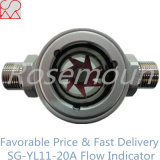 Double Window Sight Glass Impeller Water Flow Indicator