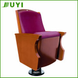 Jy-905 Lecture Hall Church Wooden Seat Folding Fabric Theater Chair