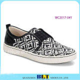 New Design Canvas Leisure Shoes with West Printed