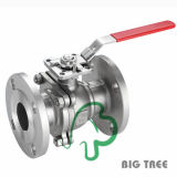 ISO Mounting Pad Flange End Ball Valve in Stainless Steel