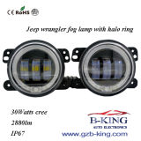 4inch LED Fog Light with Halo Ring for Jeep Wrangler