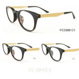 2015 Acetate Eyeglass Frame with Special Process in Temples