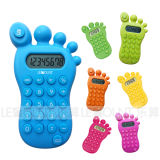 8 Digits Foot Shape Gift Calculator with Various Optional Colors (LC517)
