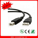 1ft 1feet USB 2.0 a Male to B Male Printer Scanner Cable Black