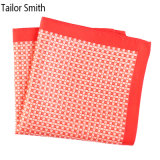 Luxury Silk Polyester Dots Plaid Printed Pocket Square Hanky Handkerchief